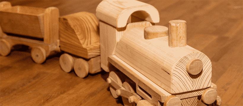 Jucarie Montessori trenulet din lemn